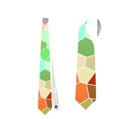 Colorful Mosaic  Neckties (one Side)  by designworld65