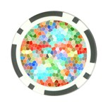 Colorful Mosaic  Poker Chip Card Guards Front