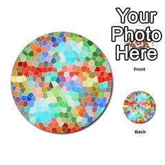 Colorful Mosaic  Multi Purpose Cards (round)  by designworld65