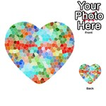 Colorful Mosaic  Multi-purpose Cards (Heart)  Front 1
