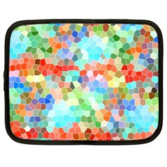 Colorful Mosaic  Netbook Case (large) by designworld65