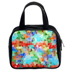 Colorful Mosaic  Classic Handbags (2 Sides) by designworld65
