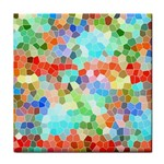 Colorful Mosaic  Face Towel