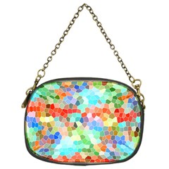 Colorful Mosaic  Chain Purses (one Side)  by designworld65