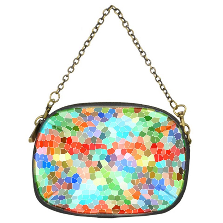 Colorful Mosaic  Chain Purses (One Side)