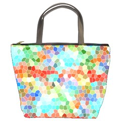 Colorful Mosaic  Bucket Bags by designworld65