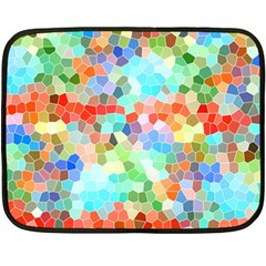 Colorful Mosaic  Double Sided Fleece Blanket (mini)
