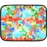Colorful Mosaic  Double Sided Fleece Blanket (Mini)  35 x27 Blanket Back