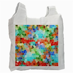 Colorful Mosaic  Recycle Bag (two Side)  by designworld65