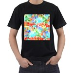 Colorful Mosaic  Men s T-Shirt (Black)
