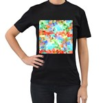 Colorful Mosaic  Women s T-Shirt (Black)