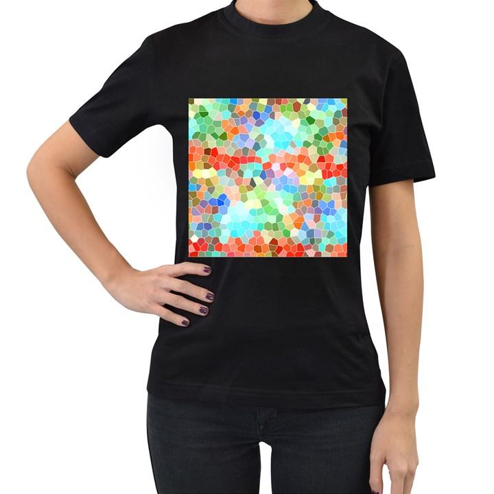 Colorful Mosaic  Women s T-Shirt (Black)