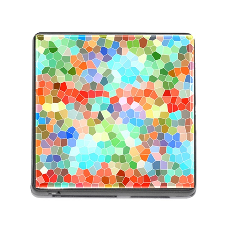 Colorful Mosaic  Memory Card Reader (Square)