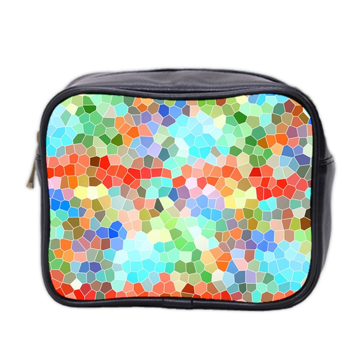 Colorful Mosaic  Mini Toiletries Bag 2-Side