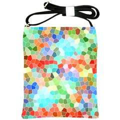 Colorful Mosaic  Shoulder Sling Bags by designworld65