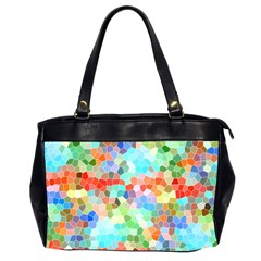 Colorful Mosaic  Office Handbags (2 Sides)  by designworld65