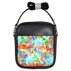Colorful Mosaic  Girls Sling Bags by designworld65