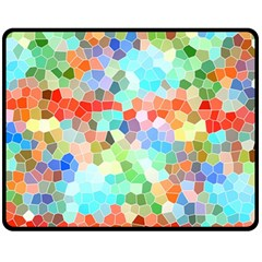 Colorful Mosaic  Fleece Blanket (medium)  by designworld65