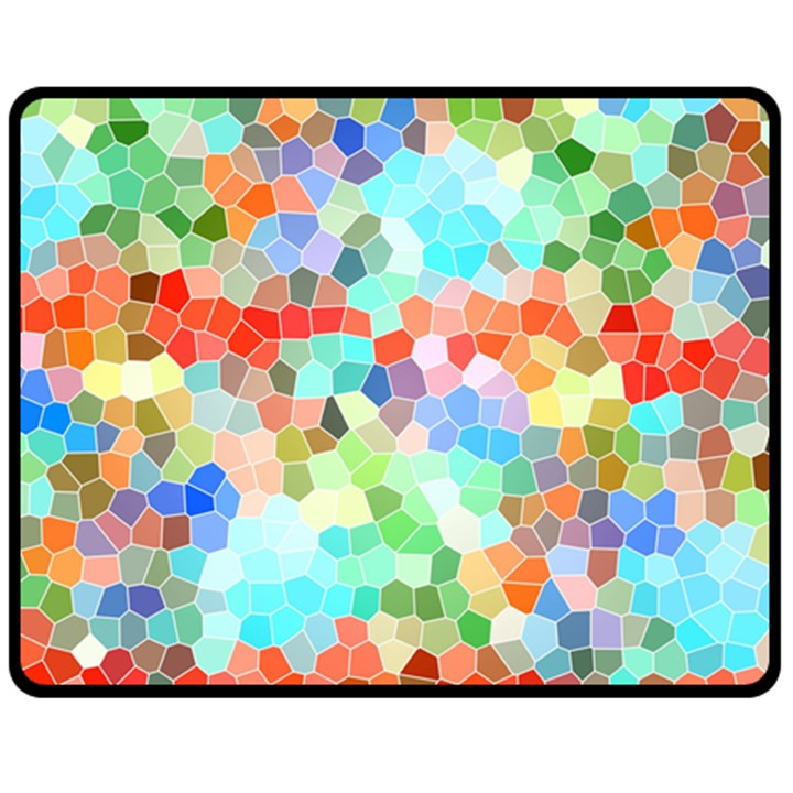 Colorful Mosaic  Fleece Blanket (Medium)