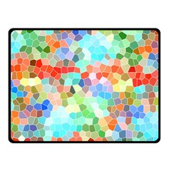 Colorful Mosaic  Fleece Blanket (small) by designworld65