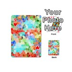 Colorful Mosaic  Playing Cards 54 (Mini)  Front - Heart9