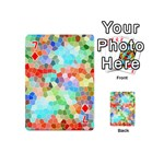 Colorful Mosaic  Playing Cards 54 (Mini)  Front - Diamond7