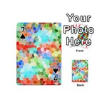 Colorful Mosaic  Playing Cards 54 (Mini)  Front - Spade7