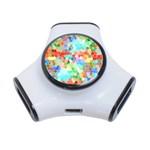 Colorful Mosaic  3-Port USB Hub Front