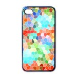 Colorful Mosaic  Apple iPhone 4 Case (Black)