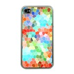 Colorful Mosaic  Apple iPhone 4 Case (Clear) Front