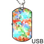 Colorful Mosaic  Dog Tag USB Flash (Two Sides)