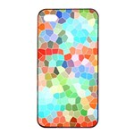 Colorful Mosaic  Apple iPhone 4/4s Seamless Case (Black) Front