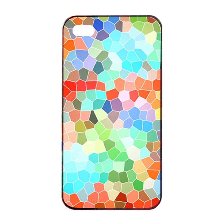 Colorful Mosaic  Apple iPhone 4/4s Seamless Case (Black)