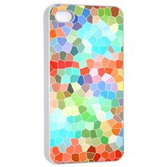Colorful Mosaic  Apple Iphone 4/4s Seamless Case (white) by designworld65