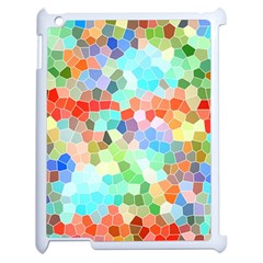 Colorful Mosaic  Apple Ipad 2 Case (white) by designworld65