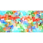 Colorful Mosaic  BEST SIS 3D Greeting Card (8x4) Front