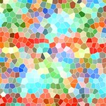 Colorful Mosaic  Best Wish 3D Greeting Card (8x4) Inside
