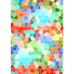 Colorful Mosaic  WORK HARD 3D Greeting Card (7x5) Inside