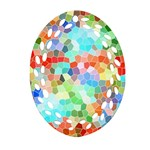 Colorful Mosaic  Oval Filigree Ornament (2-Side)
