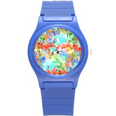 Colorful Mosaic  Round Plastic Sport Watch (s) by designworld65
