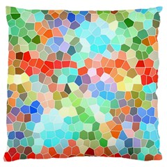Colorful Mosaic  Large Cushion Case (two Sides) by designworld65