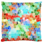 Colorful Mosaic  Large Cushion Case (Two Sides) Back