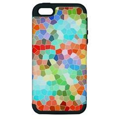 Colorful Mosaic  Apple Iphone 5 Hardshell Case (pc+silicone) by designworld65