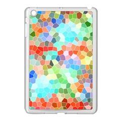 Colorful Mosaic  Apple Ipad Mini Case (white) by designworld65