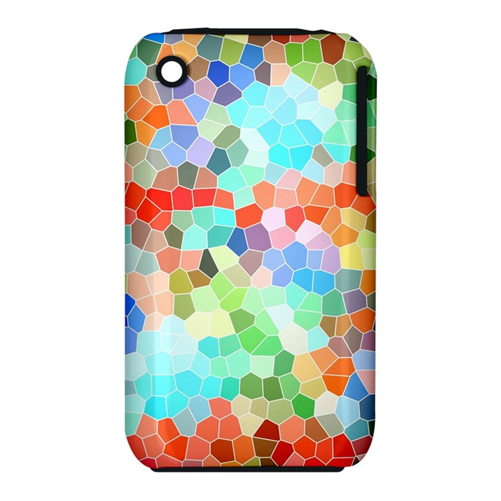 Colorful Mosaic  Apple iPhone 3G/3GS Hardshell Case (PC+Silicone)