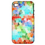 Colorful Mosaic  Apple iPhone 4/4S Hardshell Case (PC+Silicone)