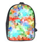 Colorful Mosaic  School Bags (XL)  Front