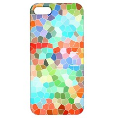 Colorful Mosaic  Apple Iphone 5 Hardshell Case With Stand by designworld65