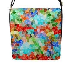 Colorful Mosaic  Flap Messenger Bag (l)  by designworld65