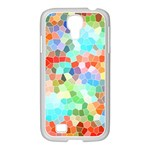 Colorful Mosaic  Samsung GALAXY S4 I9500/ I9505 Case (White) Front